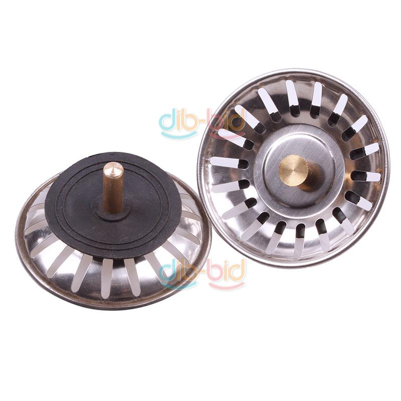 Kitchen Stainless Steel Sink Strainer Waste Disposer Plug Drain Stopper Filte # Wasbak Plug_025130