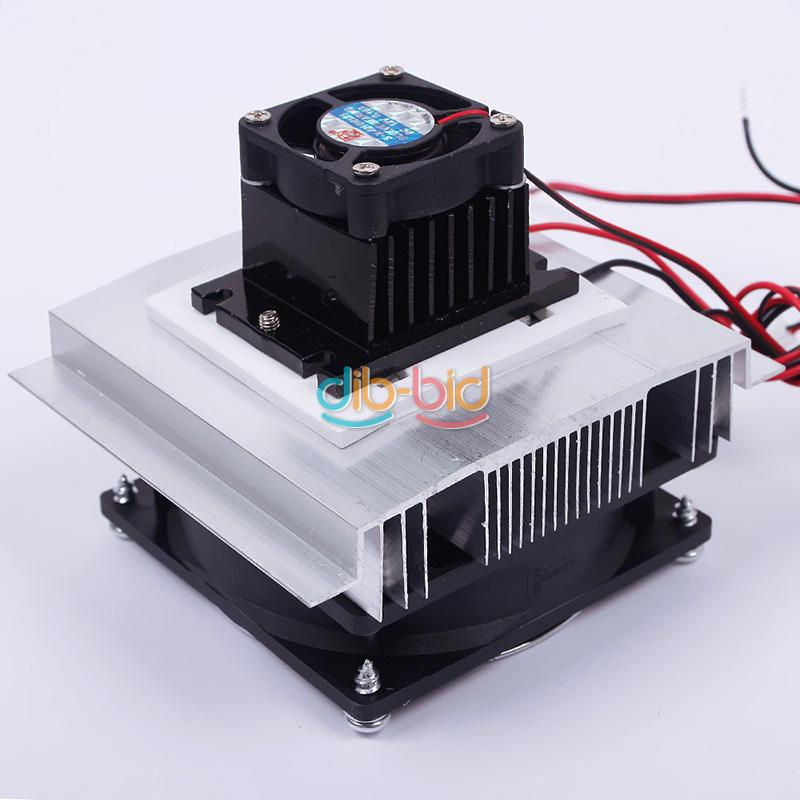 Thermoelectric Peltier Refrigeration System Kit Cooler Fan