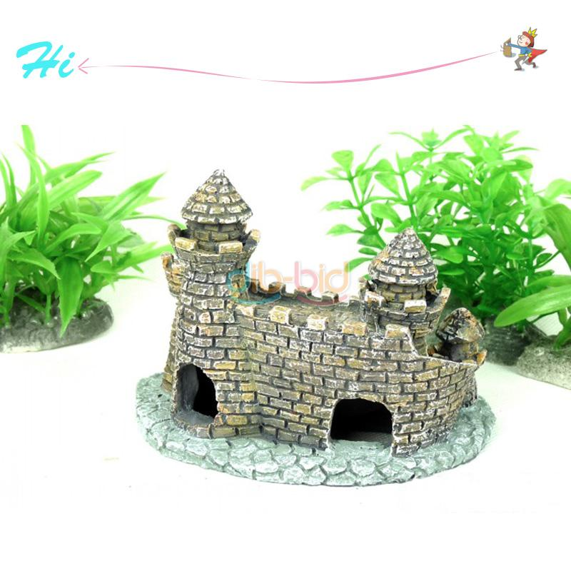 Aquarium ornament castle tower fish tank house shrimp for Aquarium decoration diy