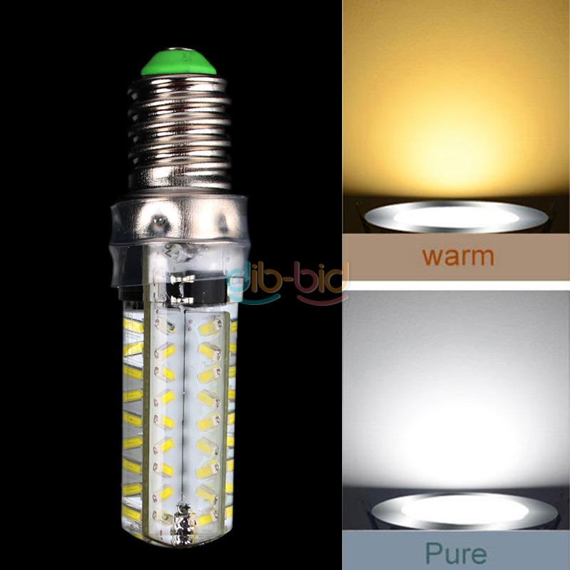 G4 G9 E14 7W Silica 72 3014 SMD LED Dimmable Warm Pure White Light Bulb 220V