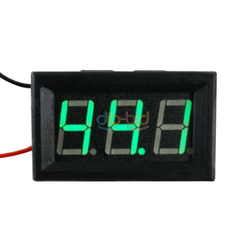 "0.56"" LED Car Digital Display Panel Volt Meter Voltmeter DC 5-120V Easy Use"