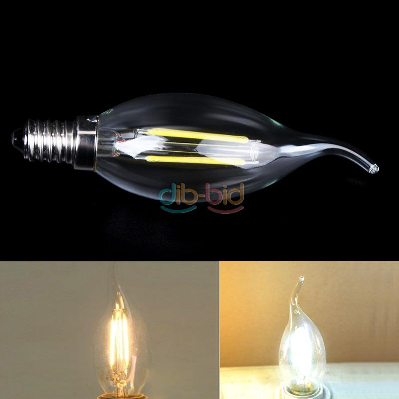 E14 2w 4w cob led filament candle chandelier bulb light for Diy led chandelier