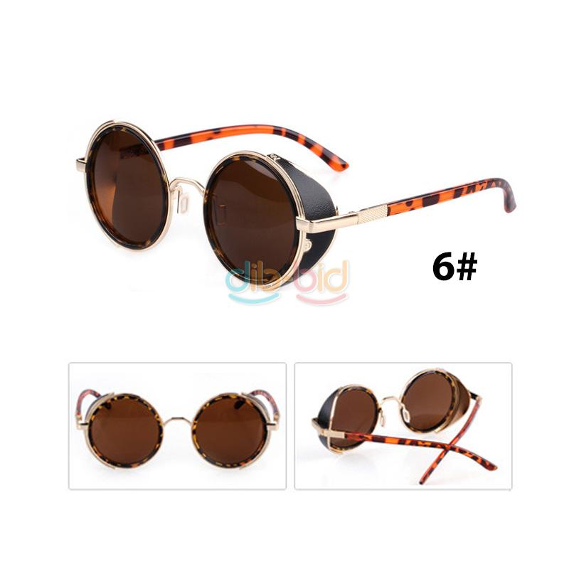 Personality Fashion Vintage Charm Round Arrow Mirror Lens Sunglasses Glasses