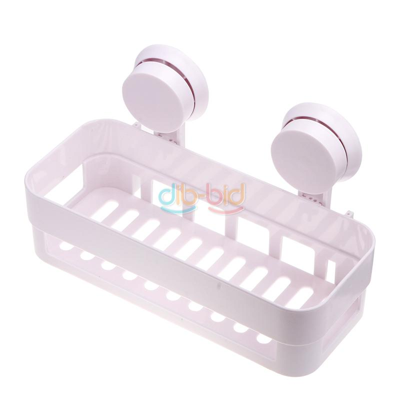 Unique Kitchenware Toiletry Storage Rack With 2 Suckers Hotel Home Use Shelf ER