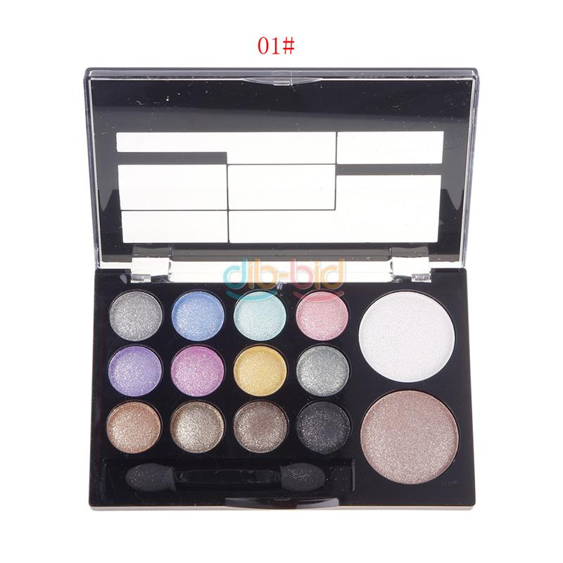 14 Color Cosmetic Lady Sweet Warm 12 Eyeshadow+2 Blush Palette Set with Brush SS