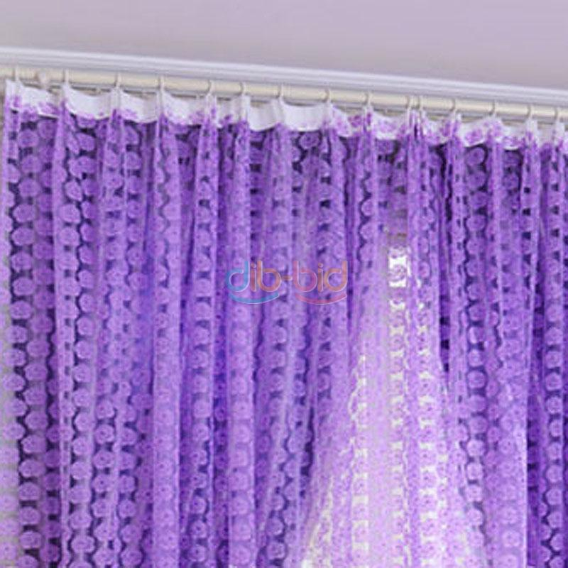 Cool Rose Tulle Window Screens Door Balcony Curtain Panel Sheer Scarfs UK HY